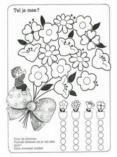 Kindergarten, Hidden Pictures, Games For Toddlers, Preschool Learning, Math Worksheets, Pre School, Spring Flowers, Activities, Decoration