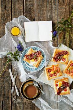 Aamiaisneliöt | K-Ruoka  #aamupala #brunssi #leivonta