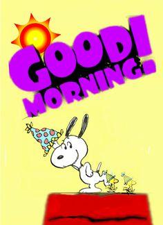 Good Morning Snoopy, Good Morning Happy Friday, Good Morning Greetings, Good Morning Quotes, Peanuts Cartoon, Peanuts Snoopy, Snoopy Images, Snoopy Pictures, Snoopy Love