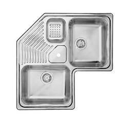 blanco - silgranit natural granite composite corner sink, drop in