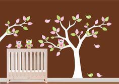 Pattern Leaf Wall Art Tree with Branch Decal  by NurseryWallArt, $99.99