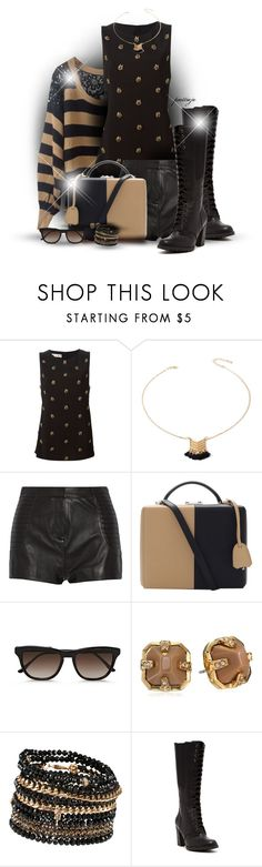"""""""Lace and Laces"""" by rockreborn ❤ liked on Polyvore featuring Marni, Forever 21, Pierre Balmain, Mark Cross, STELLA McCARTNEY, Vince Camuto, ALDO, Timberland, stripedsweater and polyvoreeditorial"""