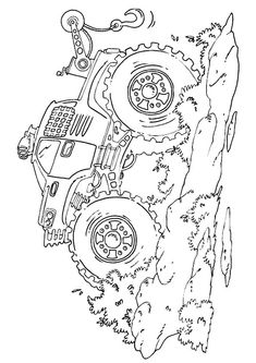 Famous Monster Truck Bigfoot Coloring Page - Free Coloring Pages Online Monster Truck Drawing, Monster Truck Coloring Pages, Cars Coloring Pages, Free Coloring Sheets, Coloring Pages For Kids, Paw Patrol Coloring, Page Online, Famous Monsters, Boy Birthday