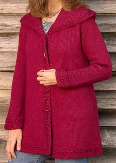 Ravelry: Boston Top-Down Hooded Coat pattern by Sue McCain. Must pay for pattern, but I LOVE this! Sweater Knitting Patterns, Coat Patterns, Knitted Coat Pattern, Knitting Ideas, Hooded Sweater, Sweater Coats, Knit Sweaters, Men Sweater, Knit Jacket