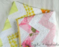 Liz Taylor * Handmade: baby chevron quilt