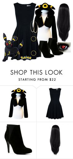 """Pokemon:Umbreon Inspired"" by xxsilentsilverxx ❤ liked on Polyvore featuring Oasis, ALDO and Lana"