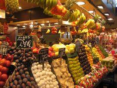 La Boqueria Fruit Stand