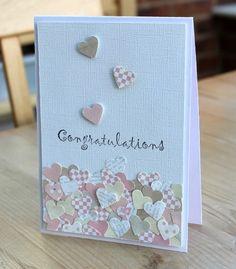 Wedding card design simple scrap 42 Ideas – The Best Ideas Paper Cards, Diy Cards, Wedding Congratulations Card, Congrats Cards, Wedding Cards Handmade, Handmade Engagement Cards, Karten Diy, Wedding Anniversary Cards, Anniversary Cards For Couple