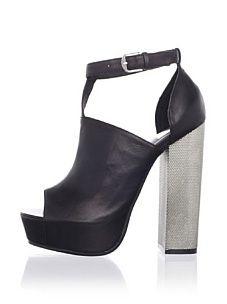 Dolce Vita Women's Juliet Platform Sandal (Black Leather)