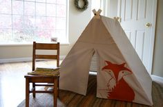 Hey, I found this really awesome Etsy listing at http://www.etsy.com/listing/154432724/fold-up-childrens-a-frame-play-tent-fox
