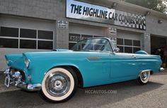 Blue 1956 Ford Thunderbird Conv w/ 2 Tops Thunderbird  Conv w/ 2 Tops Waterbury Connecticut