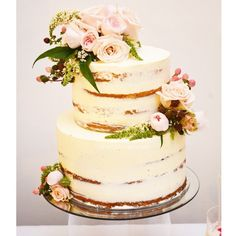 With love by Zee. Pastel rose & berry naked cake for the sweet sweet  @sereneandco_weddings xxx