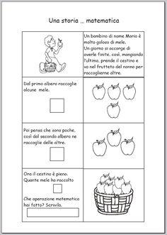 esercizi-illustrati-di-matematica Math Problems, Homeschool, Bullet Journal, Teaching, Education, Montessori, Numbers, David, Google