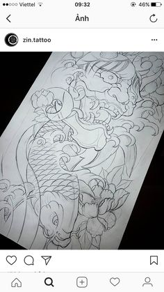 Hannya Tattoo, C Tattoo, Japanese Koi Fish Tattoo, Japanese Tattoo Designs, Asian Tattoos, Fish Tattoos, Couple Tattoos, Love Tattoos, Japanese Hannya Mask