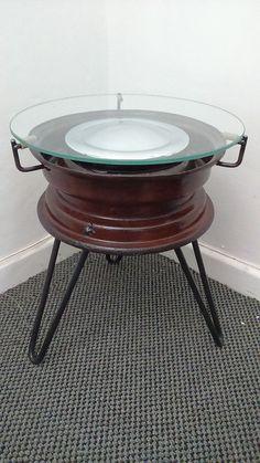 Repurposed BMX Rims Into Coffee Tables • Recyclart