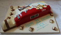 Kinder Chocolate Bar birthday cake!!