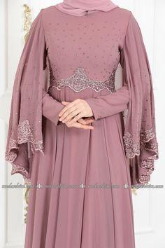 Hijab Fashion, Fashion Dresses, Hijab Style Dress, Party Frocks, Bridesmaid Dresses, Wedding Dresses, The Dress, Dresses With Sleeves, Muslim