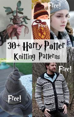 Harry Potter Knitting Patterns Harry Potter Inspired Knitting Patterns Many Free Knitting Patterns These Patterns Are Not Authorized Approved Licensed Or Endorsed By J K Rowling Her Publishers Or Warner Bros Entertainment Inc Pull Harry Potter, Tricot Harry Potter, Harry Potter Sweater, Harry Potter Crochet, Harry Potter Warner Bros, Harry Potter Books, Yarn Projects, Crochet Projects, Sewing Projects