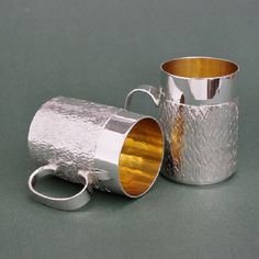 Silver shot mugs