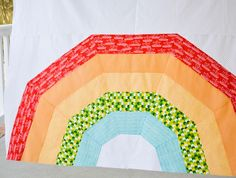 NEW Pattern! Giant Rainbow Quilt