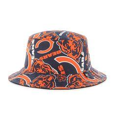 Chicago Bears Bravado Bucket White 47 Brand Hat Detroit Game 270d9e34d