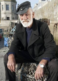 Fisherman Ivor Charles has become the go-to man for Hollywood film scouts hoping to give authenticity to nautical scenes Cultura Judaica, Old Fisherman, Sea Captain, Great Beards, Seafarer, Fishing Girls, Old Men, Bearded Men, Nautical