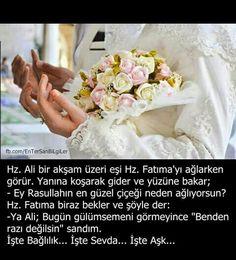 Hazrat Ali and Hazrat Fatima- Hz.Ali ve Hz.Fatıma Hazrat Ali and Hazrat Fatima - Halal Love, Hazrat Ali, Allah Islam, Magic Words, Islamic Quotes, Cool Words, Einstein, Nature Photography, Religion