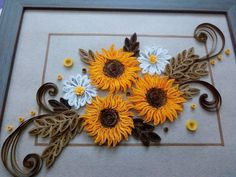 #sunflowers #quilling #paper #strips #handmade