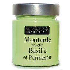 Moutarde saveur parmesan et basilic - 130 g - Color - Plaisirs salés-Épicerie gourmande-Cuisine-Par pièce - Décoration intérieur - Alinea