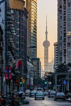 Oriental Pearl Tower, Shanghai  (by Chris Miller)