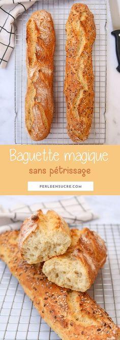 Baguette magique sans pétrissage Diet Recipes, French Toast, Veggies, Bread, Cooking, Breakfast, Desserts, Food, Pains