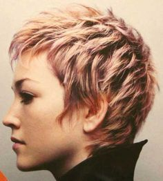 Short Blonde Highlights Pixie