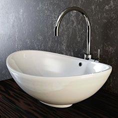 Bad Gäste-WC Waschtisch Aufsatz Glas Waschbecken Waschschale rund ... | {Waschbecken rund aufsatz 84}