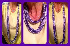 My newest creation. Braided t-shirt infinity scarf.