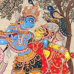 lord krishna and radha paintings #Krishna #Krsna #Radha #Radhe #hindu #art
