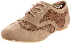 Amazon.com: Wanted Shoes Women's Neat Lace-Up Oxford: Shoes