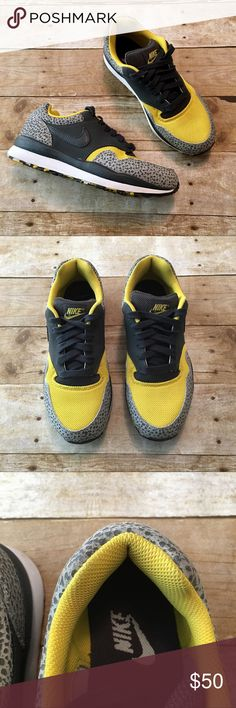 the best attitude 55b22 29f21 Nike Air Safari Black, yellow, and gray Nike Air Safari sneakers. Charcoal  gray