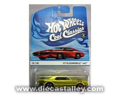 Die Cast Alley - Hot Wheels -1/64 Cool Classics (15 of 30) - 1967 Oldsmobile 442, Spectrafrost Lime, $2.99 (http://www.diecastalley.com/hot-wheels-1-64-cool-classics-15-of-30-1967-oldsmobile-442-spectrafrost-lime/)
