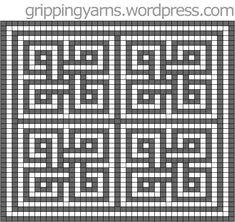 intermeshing crochet – Page 3 – Gripping Yarns Filet Crochet, Crochet Cross, Crochet Diagram, Crochet Chart, Diy Crochet, Crochet Tutorials, Tapestry Crochet Patterns, Crochet Stitches Patterns, Mosaic Patterns