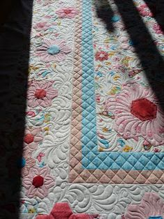 Fabulous machine quilting done by Margaret of Quilts of Love blog