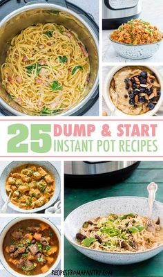 Save time with these easy, no-fuss meals you can make in your instant pot! This collection of tried & tested Dump and Start Instant Pot Reci. Instant Pot Chicken Thighs Recipe, Best Instant Pot Recipe, Instant Pot Dinner Recipes, Lunch Recipes, Appetizer Recipes, Soup Recipes, Healthy Recipes, Yummy Recipes, Recipies