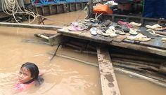 Cambogia: Mekong in piena, e i confini d'acqua scompaiono