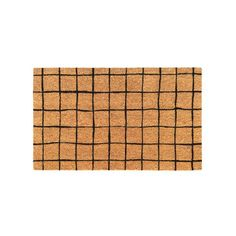 General Eclectic | Doormat | Black Grid – Shut the Front Door! online