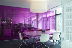 pink glass office walls