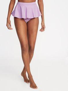 1e93bf7232 Old Navy Women's High-Rise Peplum-Hem Swim Bottoms Lavenderlicious Size XXL  Peplum Swimsuit