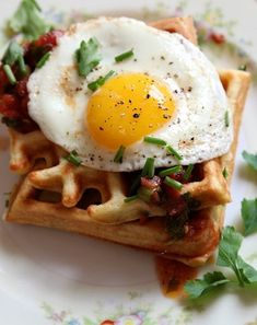10 Best Egg Recipes Including:   grilled panzanella with poached egg... Poached egg salad ... Savory cornmeal and chive waffle with salsa and eggs ... Bacon and egg breakfast tarts