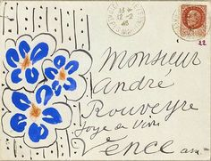 Design is fine. History is mine. — Henri Matisse sending letters to André Rouveyre,...