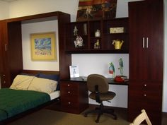 Desk and panel bed