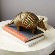 NEW! This cute armadillo is heavy enough to use as a paperweight, and is a fun way to spice up a desk, shelf or side table.
