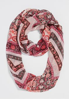sheer infinity scarf in floral chevron print (original price, $16) available at #Maurices